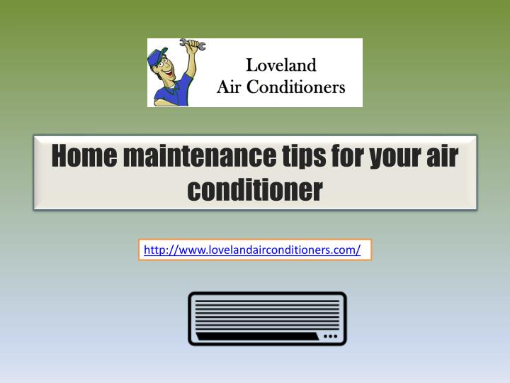 Home maintenance tips for your air
