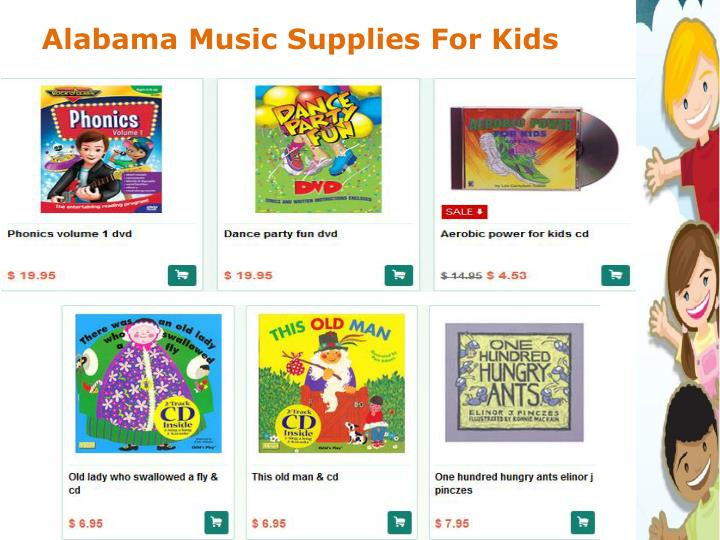 Alabama Music Supplies For Kids