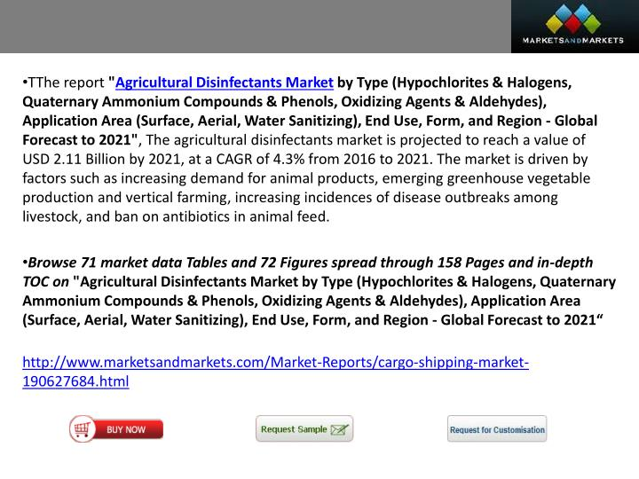 Agricultural disinfectants market