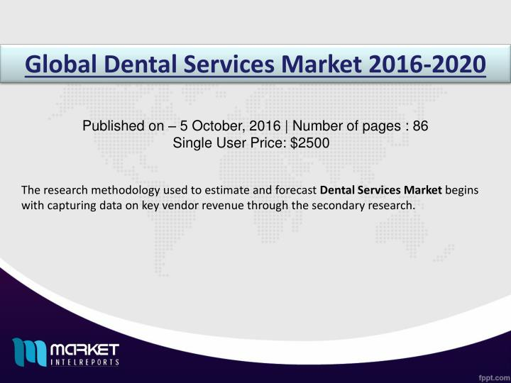 Global Dental Services Market 2016-2020