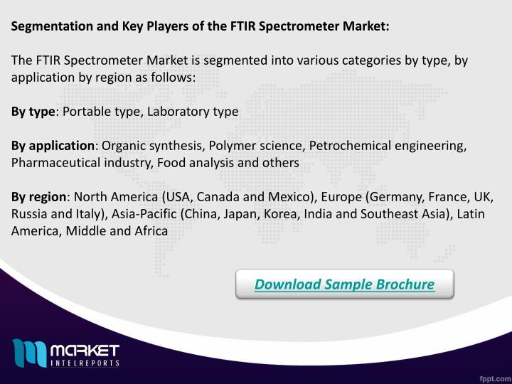 Segmentation and Key Players of the FTIR Spectrometer Market: