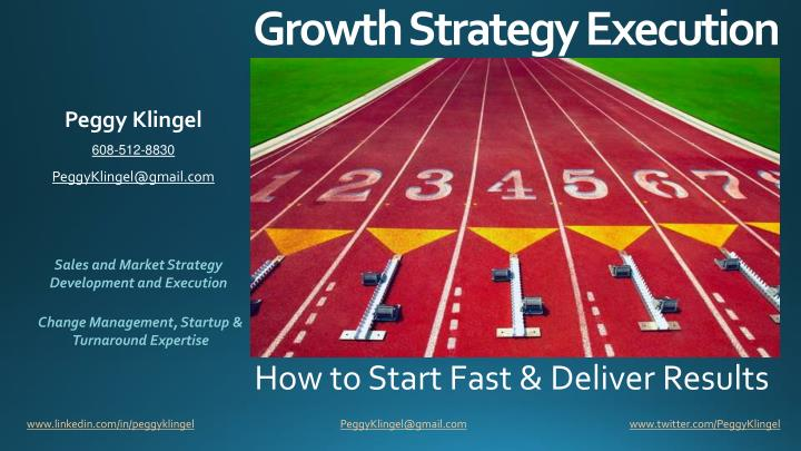 How to start fast deliver results