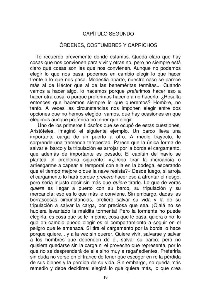 CAPÍTULO SEGUNDO