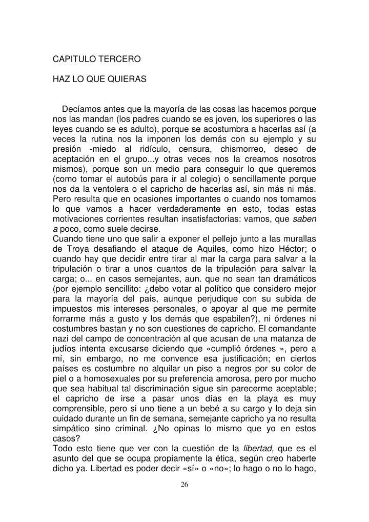 CAPITULO TERCERO