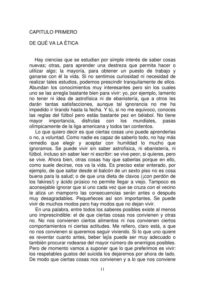 CAPITULO PRIMERO
