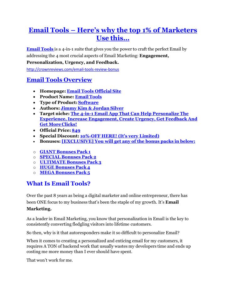 Email Tools –