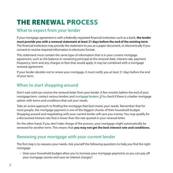 the Renewal pRocess