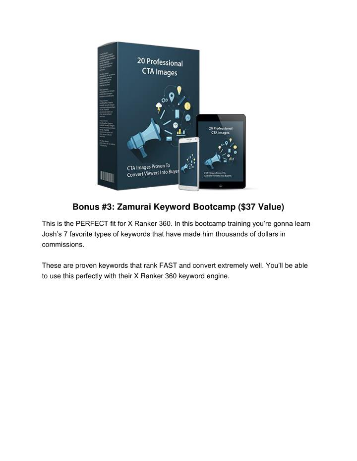 Bonus #3: Zamurai Keyword Bootcamp ($37 Value)