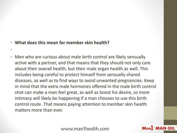 What does this mean for member skin health?