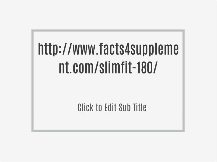 http://www.facts4suppleme