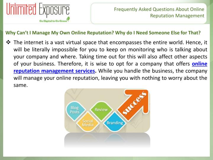 Frequently Asked Questions About Online