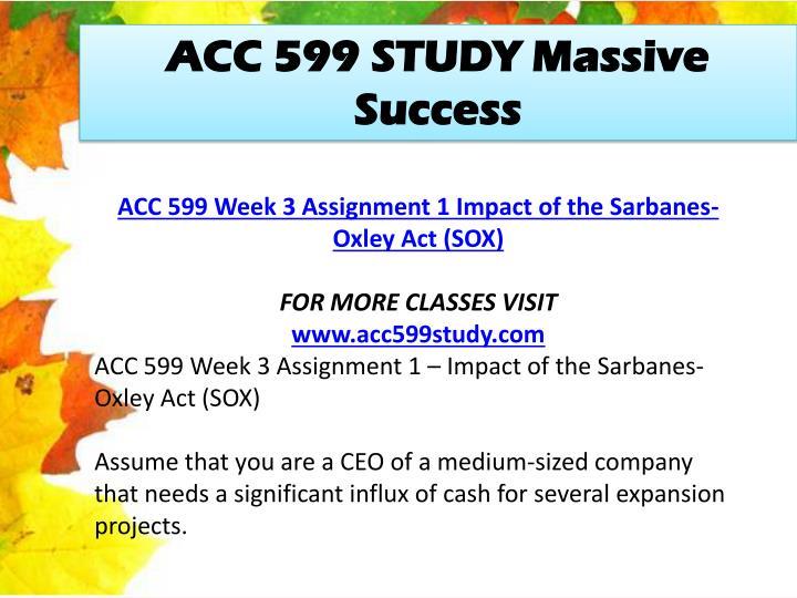 ACC 599 STUDY Massive