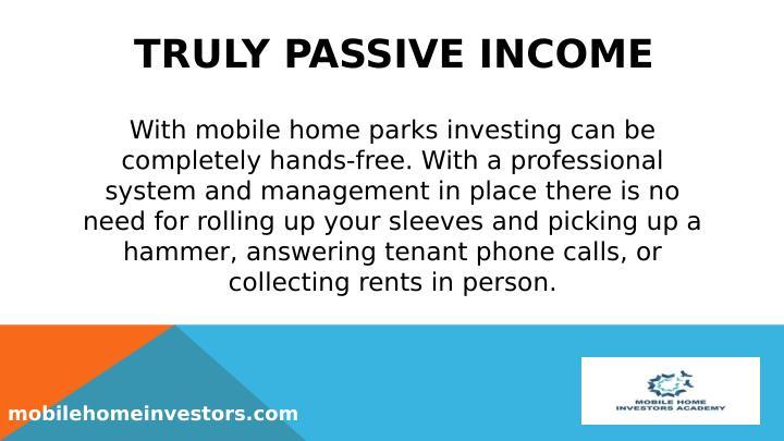 TRULY PASSIVE INCOME