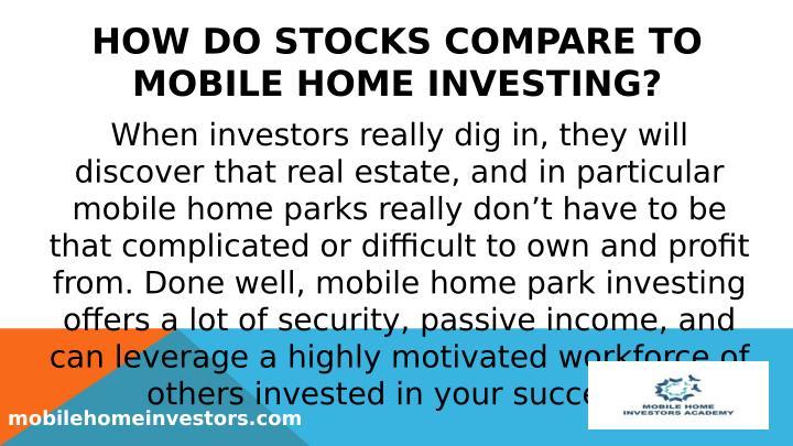 HOW DO STOCKS COMPARE TO