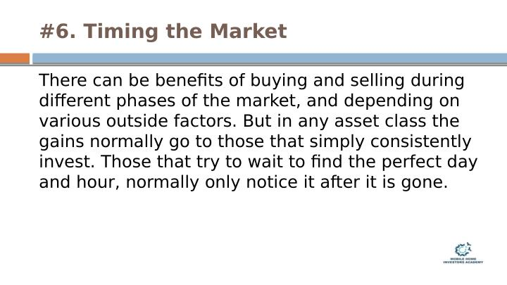 #6. Timing the Market