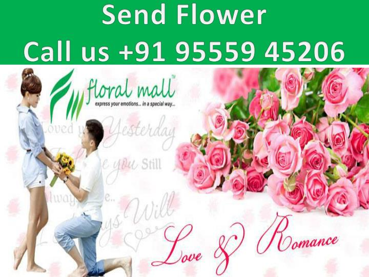 Send flower call us 91 95559 45206
