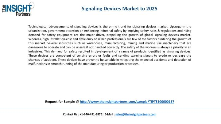 Signaling Devices Market to 2025