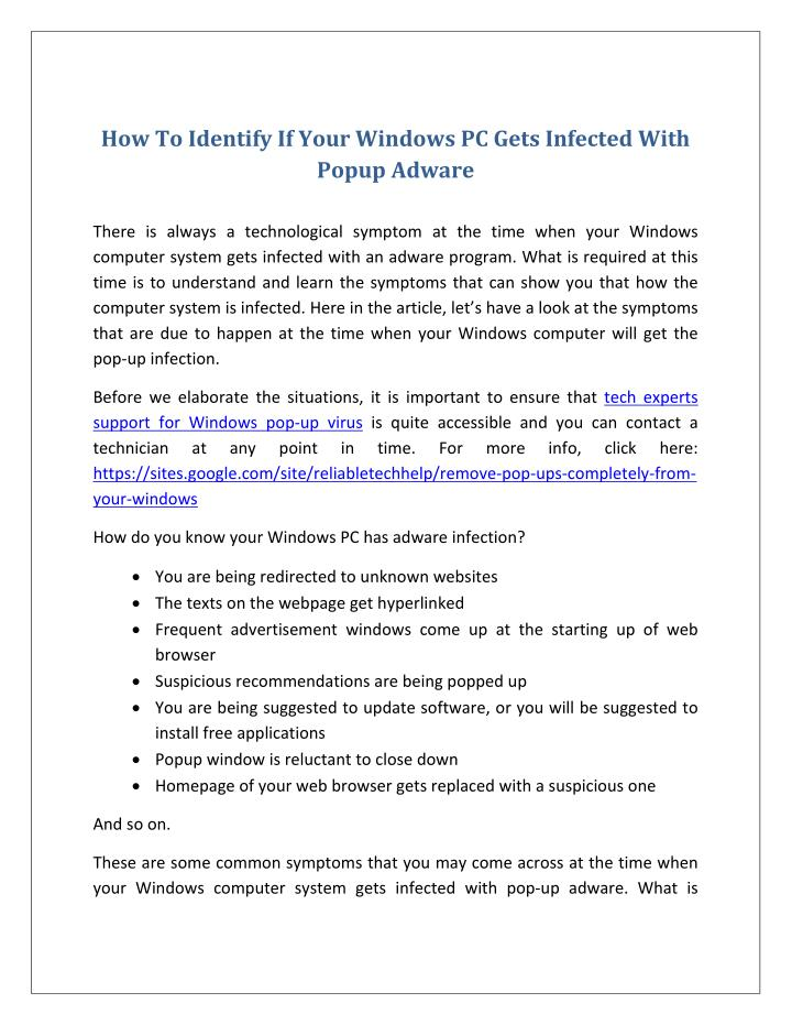 How To Identify If Your Windows PC Gets Infected With