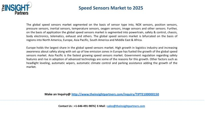 Speed Sensors Market to 2025