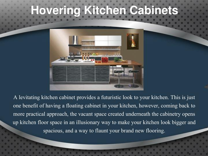 Hovering Kitchen Cabinets