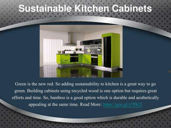 Sustainable Kitchen Cabinets