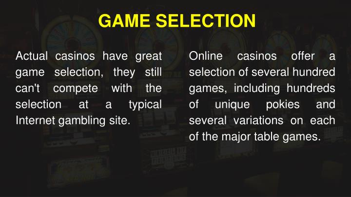 GAME SELECTION