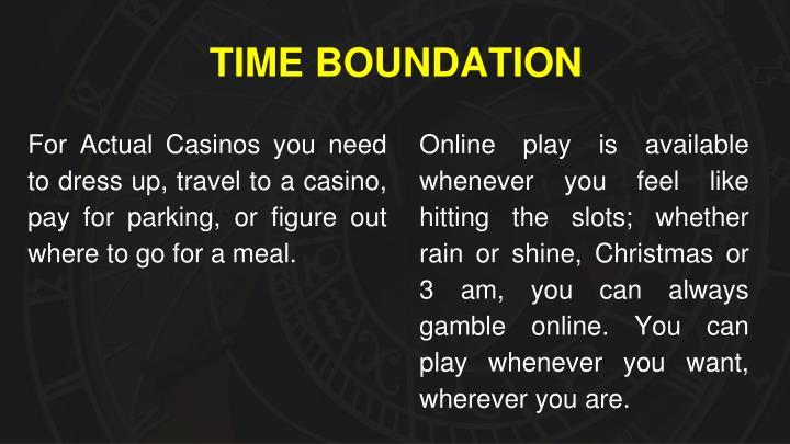 TIME BOUNDATION