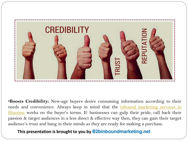Boosts Credibility: