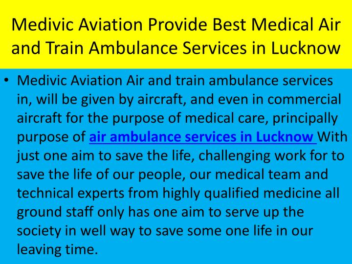 Medivic Aviation Provide Best Medical Air