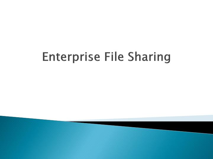 Enterprise file sharing