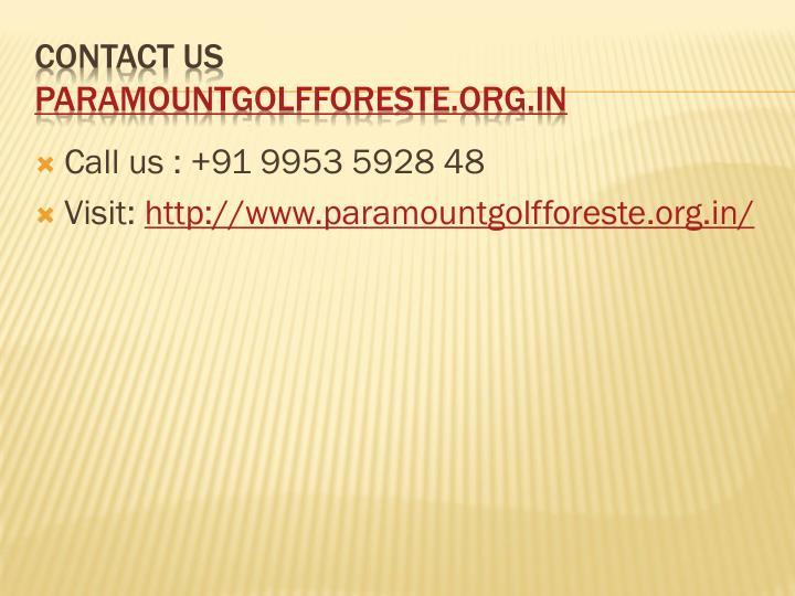 Call us : +91 9953 5928 48