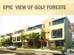 epic view of golf foreste
