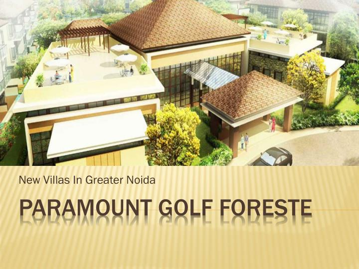 new villas in greater noida