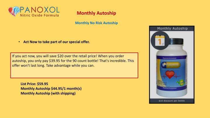 Monthly Autoship