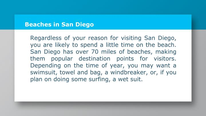 Beaches in San Diego