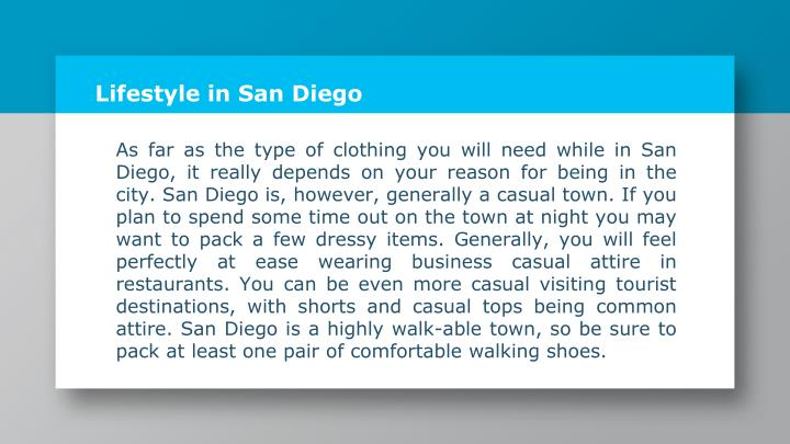 Lifestyle in San Diego