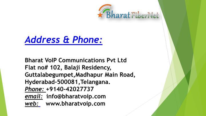 Address & Phone:
