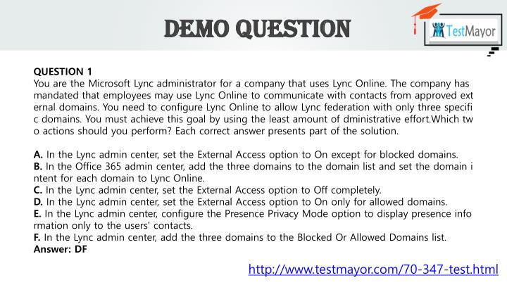 Demo Question