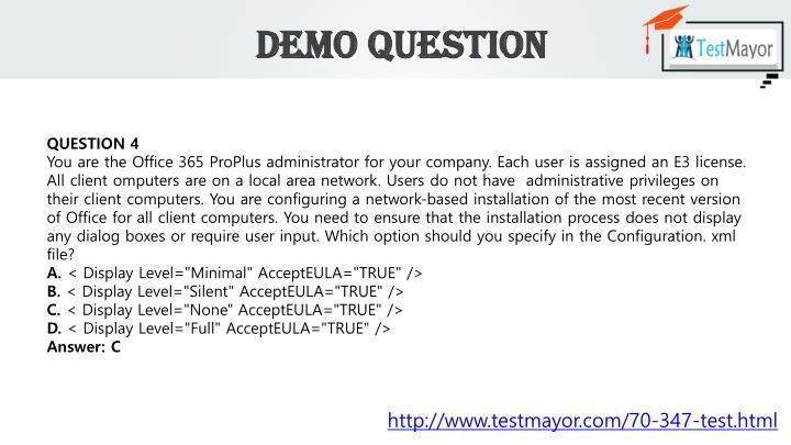 Demo Question