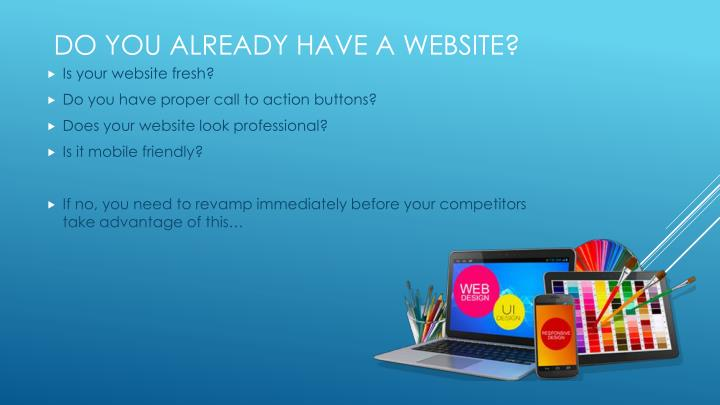 Is your website fresh?
