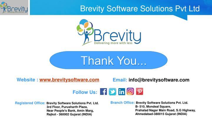 Brevity Software Solutions Pvt Ltd