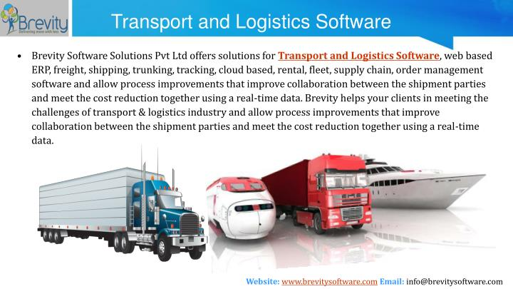 Transport and Logistics Software