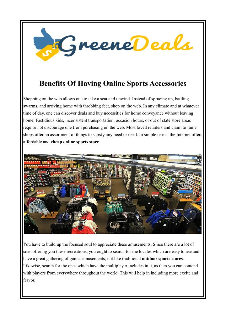 Benefits Of Having Online Sports Accessories