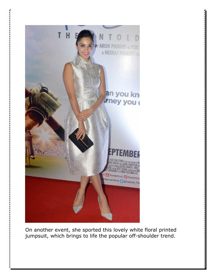 On another event, she sported this lovely white floral printed