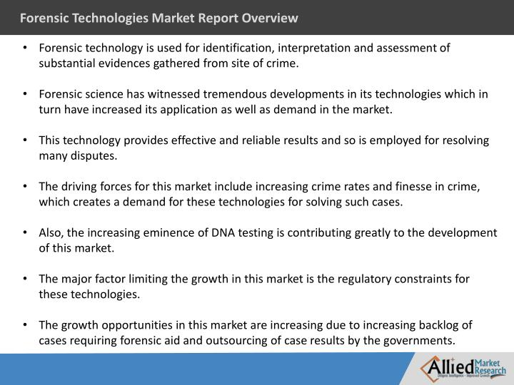 Forensic Technologies Market