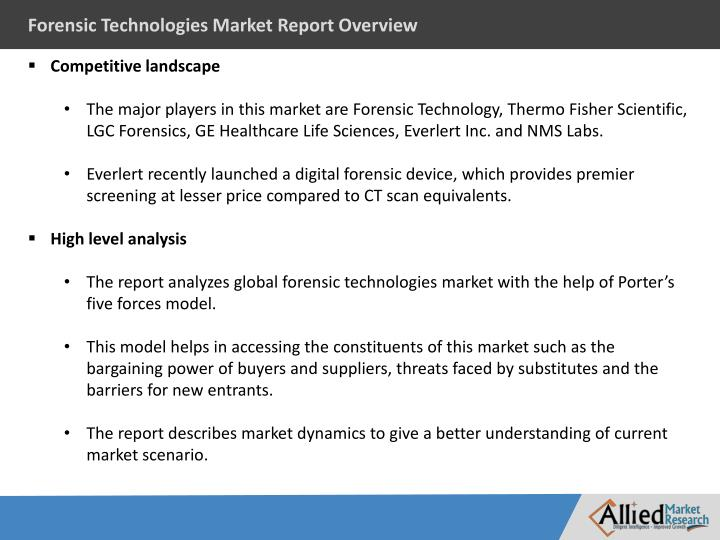 Forensic Technologies Market Report