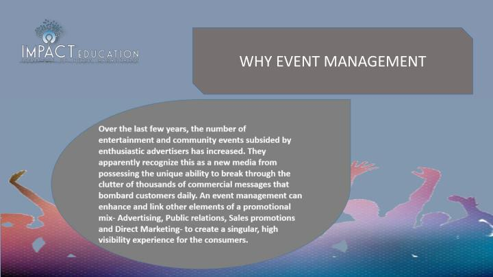 WHY EVENT MANAGEMENT