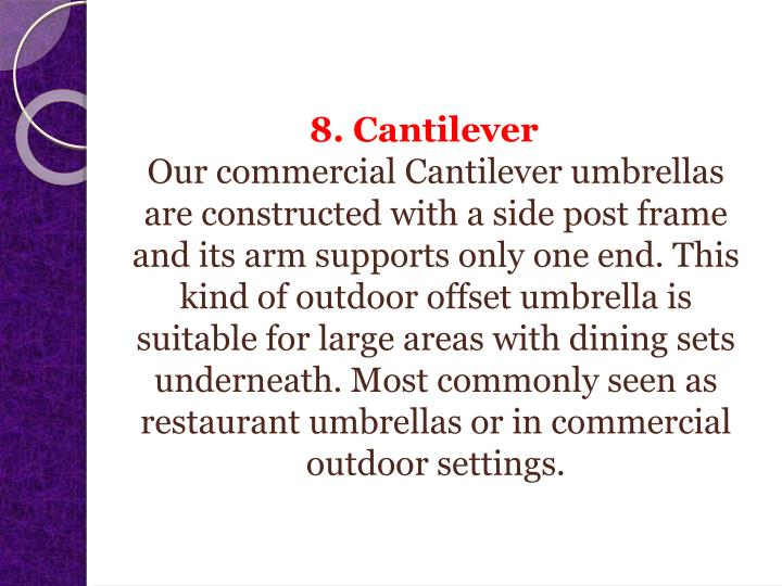 8. Cantilever