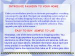 introduce fashion to your home