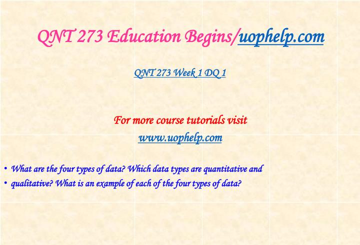 Qnt 273 education begins uophelp com2